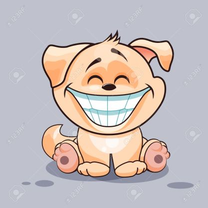 Dog with huge smile