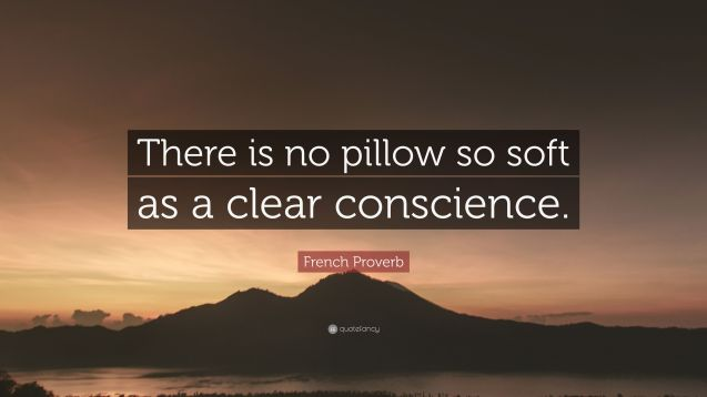 There-is-no-pillow-so-soft-as-a-clear-conscience